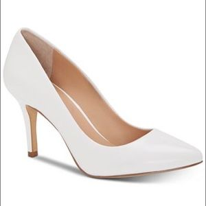 INC • Zitah pointed toe pumps in bright white